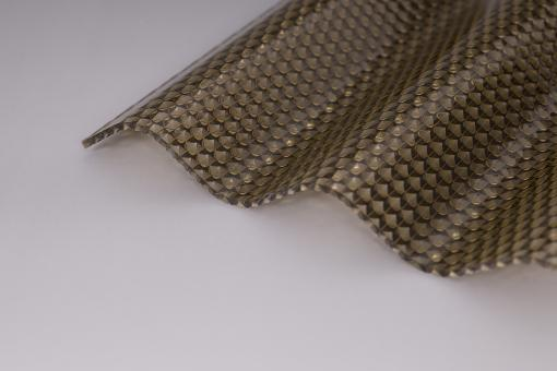 Lichtplatten Acrylglas Sinuswelle 76/18 bronze 3,0mm wabe