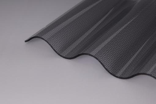 Lichtplatten Acrylglas Sinuswelle 76/18 perle graphit