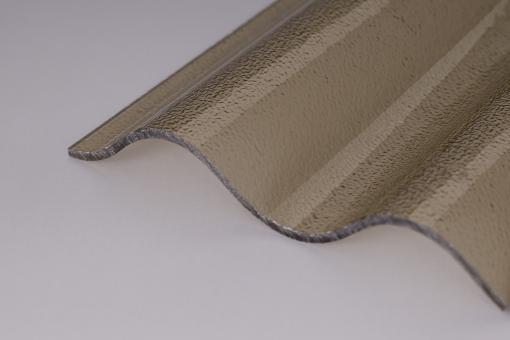 Lichtplatten Acrylglas Sinuswelle 76/18 C- Struktur bronze 3,0mm