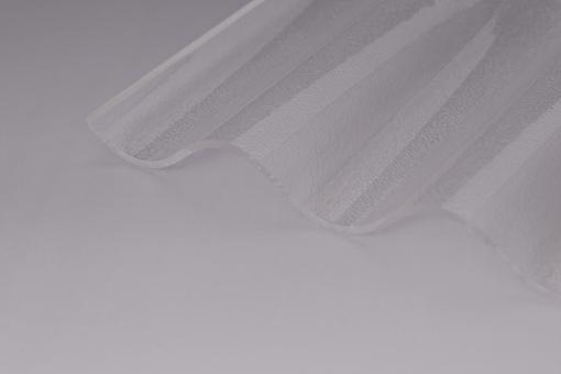 Lichtplatten Acrylglas Sinuswelle 76/18 C- Struktur klar 3,0mm