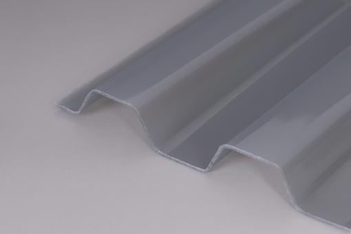 AKTION - Lichtplatten PVC Trapezprofil 70/18 Ondex HR Natur Transparent / Hagelsicher