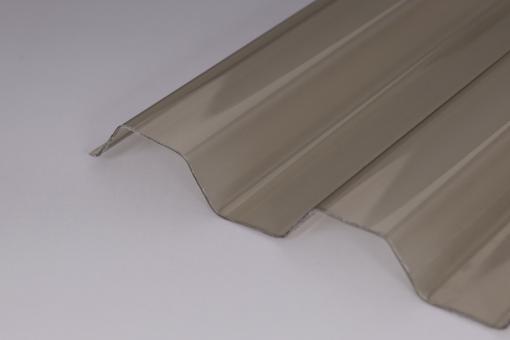 AKTION - Lichtplatten PVC Trapezprofil 70/18 Ondex 1,2mm bronze / Hagelsicher