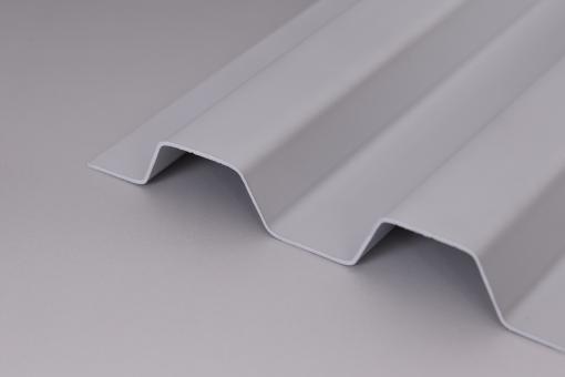 Lichtplatten PVC Trapezprofil 70/18 Sollux grau-opak / Hagelsicher