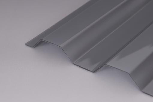 Trapezplatte Polycarbonat 76/18 Silvergrey 1,0mm