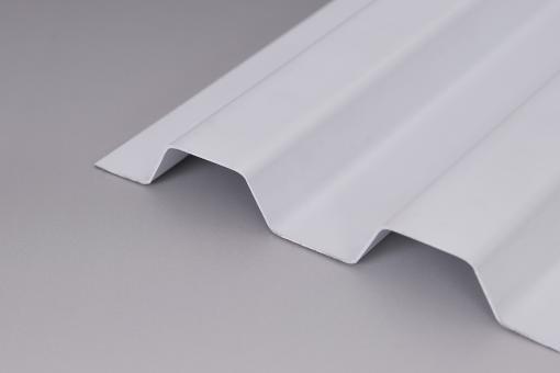 Lichtplatten PVC Trapezprofil 70/18 Sollux weiß-opak / Hagelsicher