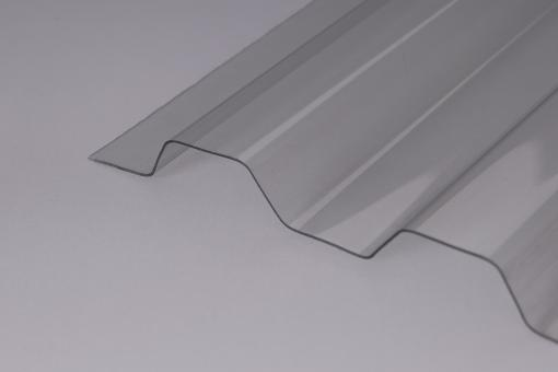 AKTION - Lichtplatten PVC Trapezprofil 70/18 Ondex HR 1,2mm glashell / Hagelsicher