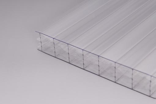 25mm Stegplatten Polycarbonat M-Struktur GlasKlar