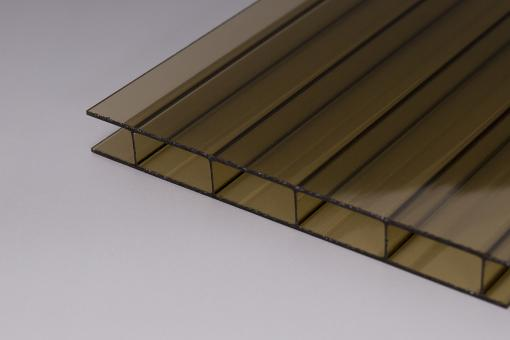 16mm Doppelstegplatten Acrylglas 16/32 Bronze