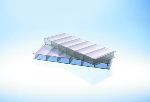 Hitzereduzierende Stegplatte 16 mm Acrylglas Sunstop