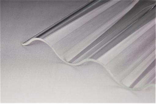 Lichtplatten Polycarbonat Wellprofil 76/18 Marlon CS-Diamond klar 2,5mm Hagelsicher