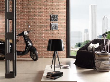 Steinwand in Ziegelsteinoptik - Brick Rustico