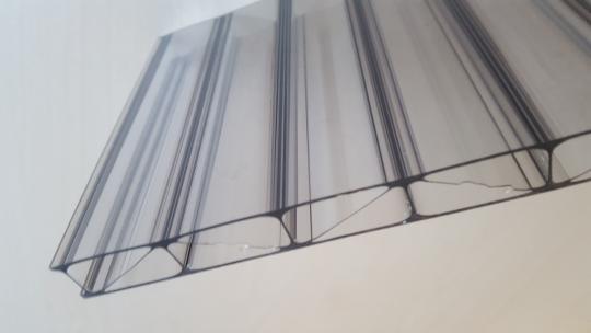 16mm Stegplatten Polycarbonat MARLON® PREMIUM LONGLIFE graphit-grau Hagelsicher 16/32