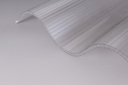 Lichtplatten Polycarbonat Wellprofil Hohlkammer 177/51 Pr6 klar