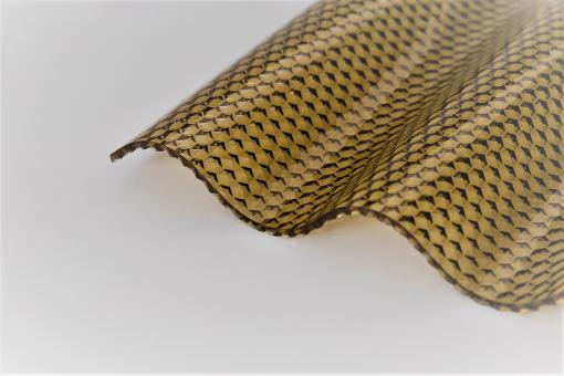 Lichtplatten Polycarbonat Wellprofil 76/18 CS-Diamond Wabe Bronze Hagelsicher