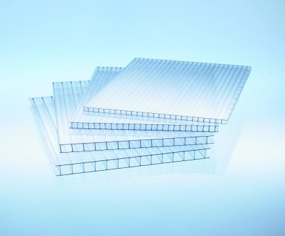 4 mm Doppelstegplatten Polycarbonat glashell