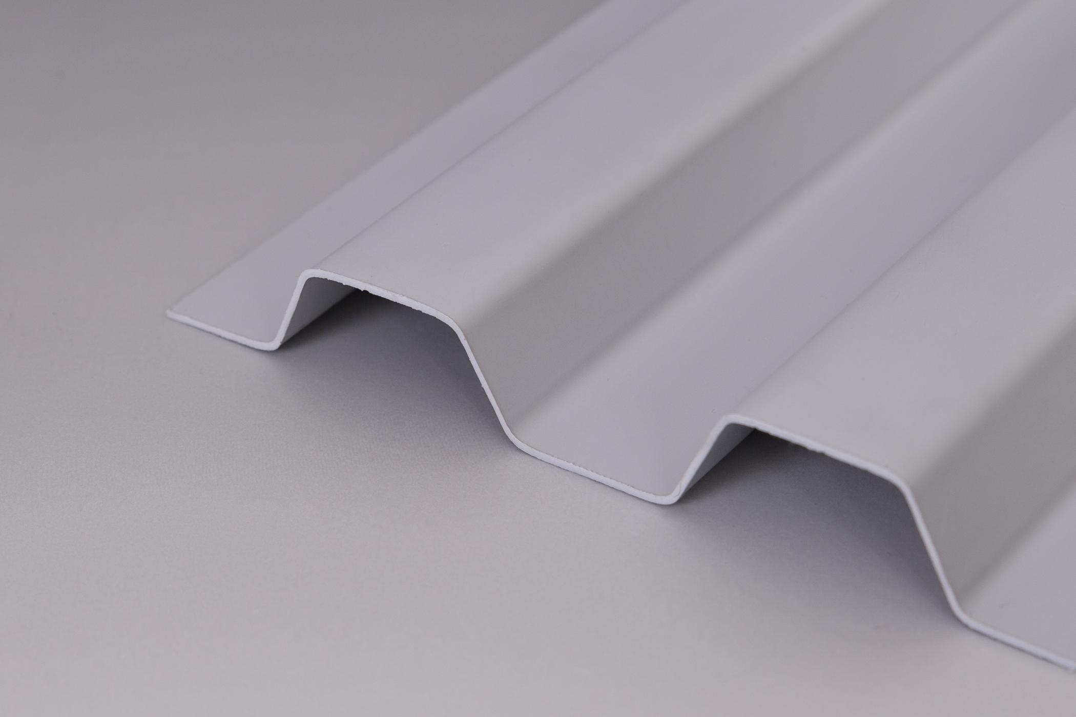 Bekannt Lichtplatten PVC Trapezprofil 70/18 Sollux grau-opak / Hagelsicher OL82