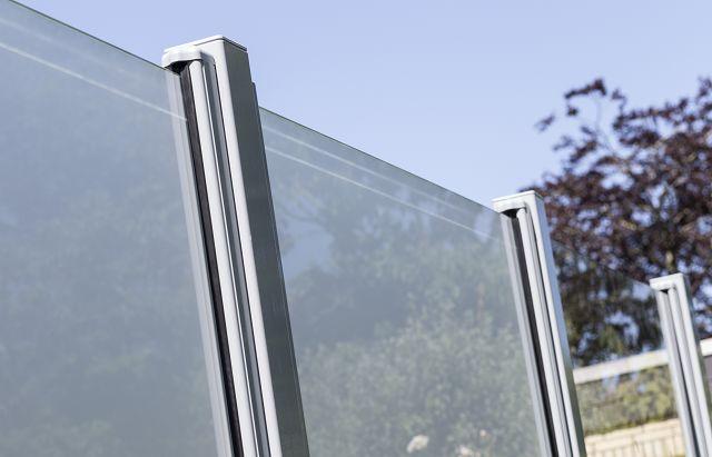 Wind- Und Sichtschutz Aus Glas Senkrecht 90 X 180 Cm