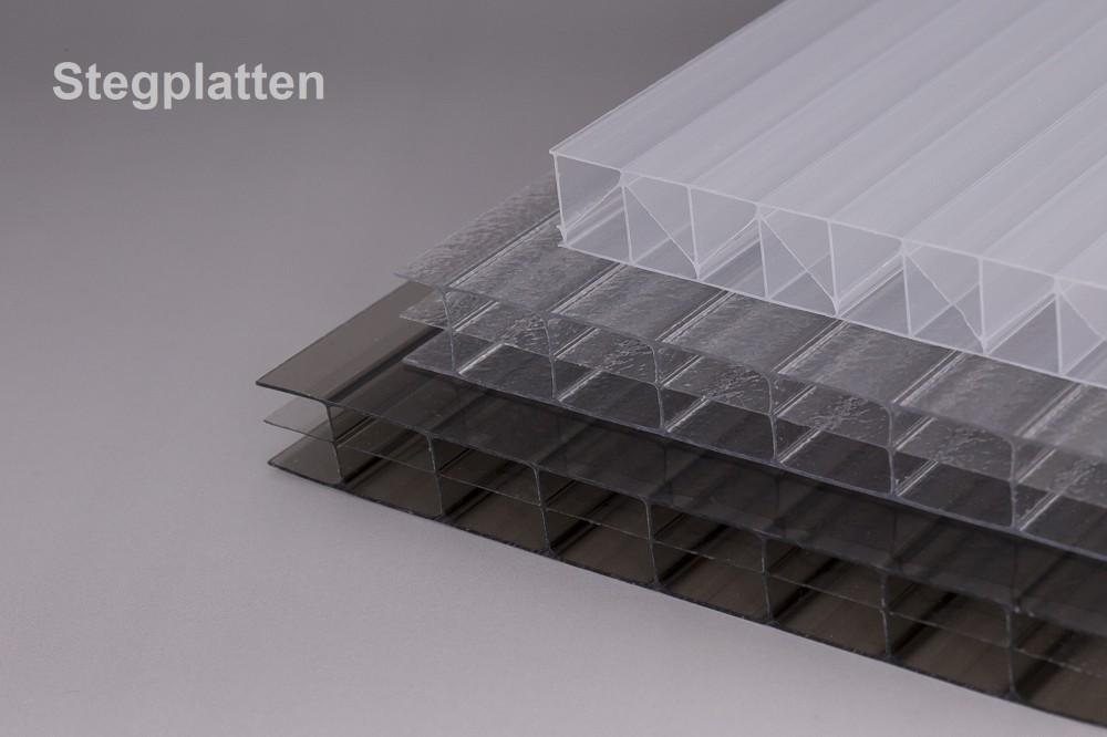 Stegplatten und Hohlkammerplatten